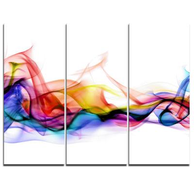 Designart Abstract Smoke Contemporary Art work -3Panels
