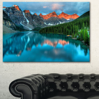 Designart Moraine Lake Sunrise Landscape Photography Canvas Art Print
