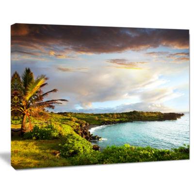 Design Art Hawaii Oahu Island Photography Canvas Art Print
