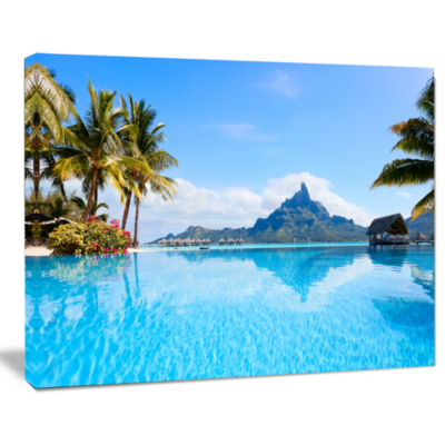 Design Art Bora Bora Landscape Photography Canvas Art Print