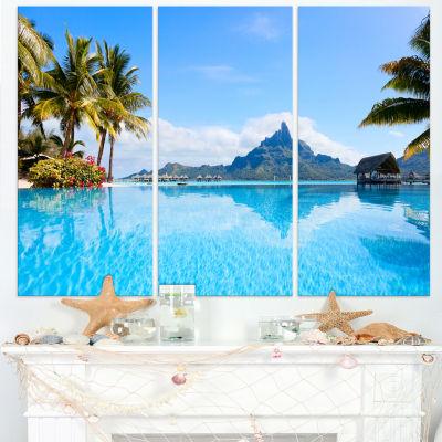 Designart Bora Bora Landscape Photography CanvasArt Print - 3 Panels
