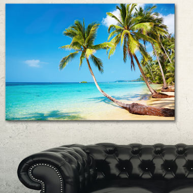 Design Art Tropical Beach Photography Seascape Canvas Print