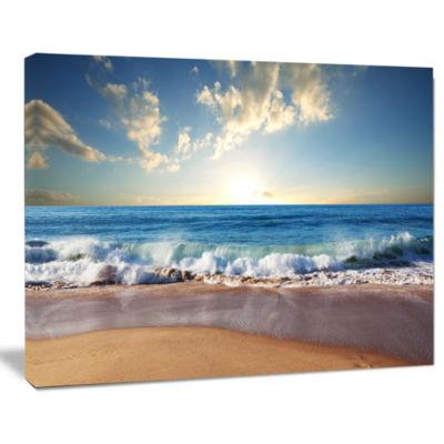 Design Art Sea Sunset Seascape Photography Canvas Art Print