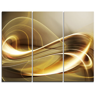 Designart Elegant Modern Sofa Abstract Art - 3 Panels