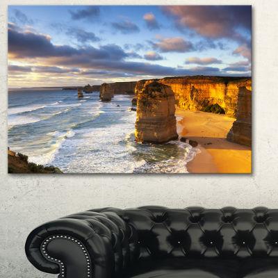 Designart Twelve Apostles Australia Seascape Canvas Art Print