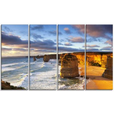 Design Art Twelve Apostles Australia Seascape Canvas Art Print - 4 Panels