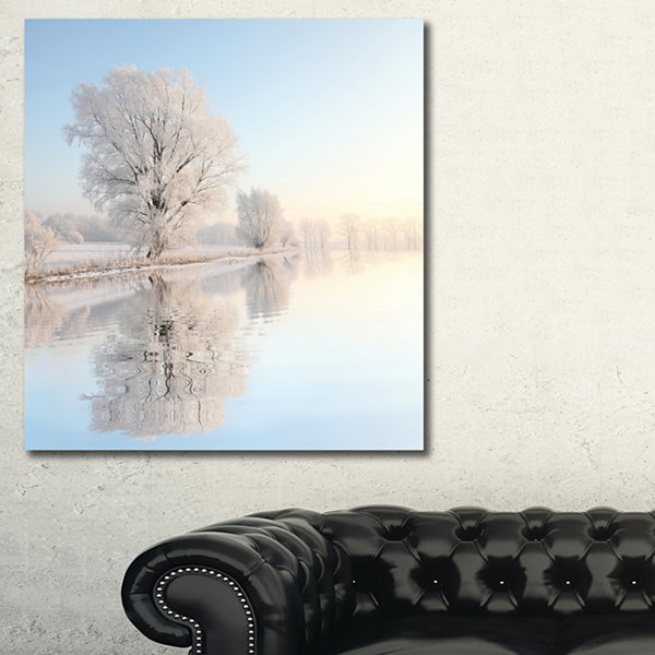 Designart Frosty Winter Tree By Rising PhotographyCanvas Art Print
