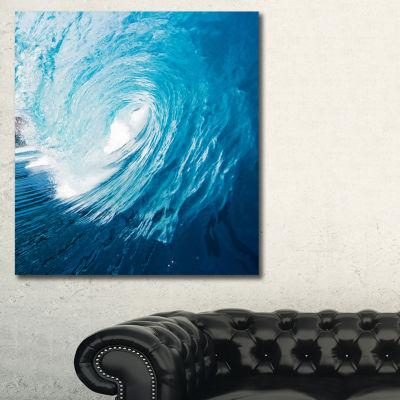 Designart Ocean Waves In Hawaii Photography CanvasArt Print
