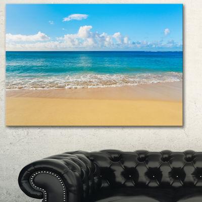 Designart Calm Beach And Tropical Sea PhotographyCanvas Art Print