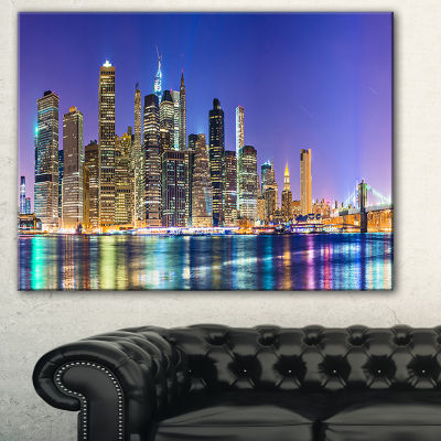 Design Art New York Cityscape Panorama Photography Landscape Canvas Print