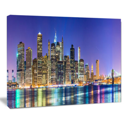 Design Art New York Cityscape Panorama Photography Landscape Canvas Print