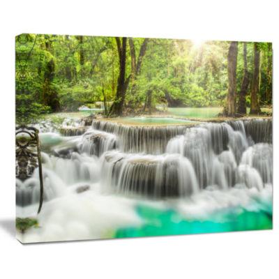 Design Art Kanchanaburi Erawan Waterfall Photography Canvas Art Print