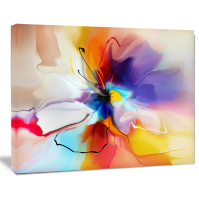 Design Art Creative Flower In Multiple Colors Canvas Art