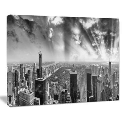 Design Art Central Park And Surrounding Buildings Cityscape Photo Canvas Print