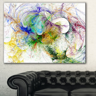 Designart Wings Of Angels Purple Abstract Canvas Art Print