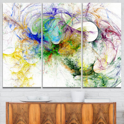 Designart Wings Of Angels Purple Abstract CanvasArt Print - 3 Panels
