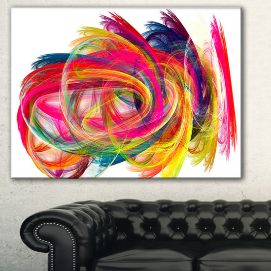 Designart Colorful Thick Strokes Abstract Canvas Art Print