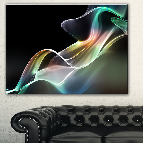 Design Art Abstract Smoke Reflection Canvas Art Print