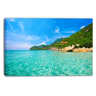 Design Art Sky Mountain And Water Landscape Photography Canvas Print