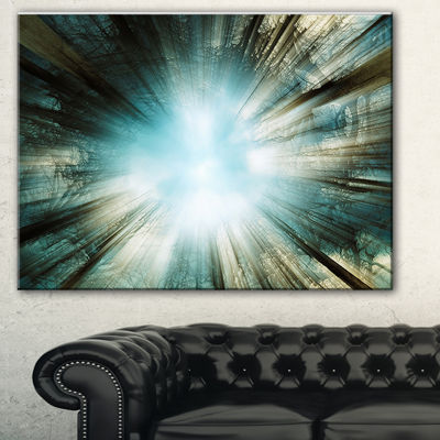 Design Art Light From Sky Abstract Canvas Art Print