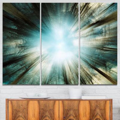 Designart Light From Sky Abstract Canvas Art Print- 3 Panels