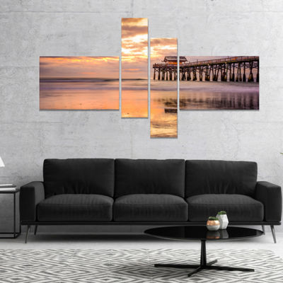 Design Art Cocoa Beach Florida Landscape Photo Canvas Art Print - 4 Panels