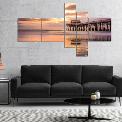 Designart Cocoa Beach Florida Landscape Photo Canvas Art Print - 5 Panels