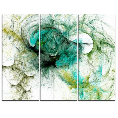 Designart Fractal Digital Paint Pattern AbstractCanvas Art Print - 3 Panels