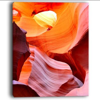 Design Art Inside Upper Antelope Canyon Landscape Photography Canvas Print
