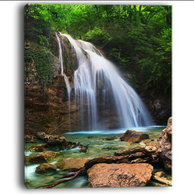 Design Art Djur Djur Waterfall Landscape Photography Canvas Art Print
