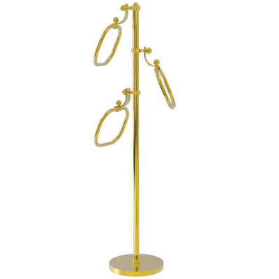 Allied Brass Towel Stand with 9 Inch Oval Towel Rings