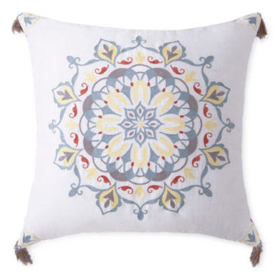 JCPenney Home Emma Medallion Square Throw Pillow