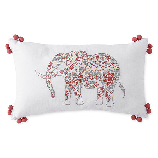 JCPenney Home Emma Elephant Rectangular Throw Pillow