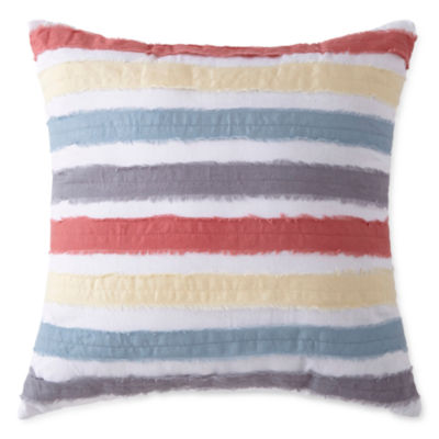 JCPenney Home Emma Raw Edge Square Throw Pillow