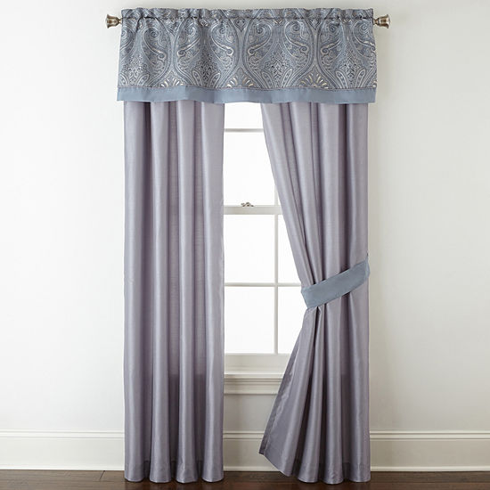 Home Expressions Lourdes Rod-Pocket Curtain Panel