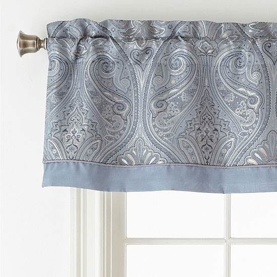 Home Expressions Lourdes Rod-Pocket Tailored Valance