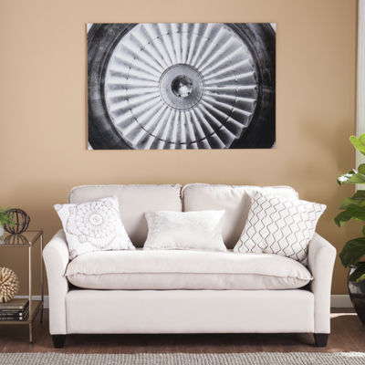 Home Decor Collections Jet Engine Glass Wall Art