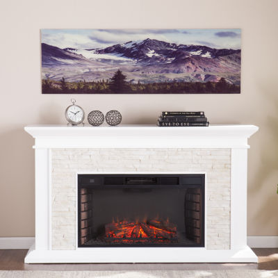 Home Décor Collections Snow Covered Fall Mountains in Colorado Glass Wall Art
