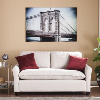 Home Decor Collections The Brooklyn Bridge Glass Wall Art