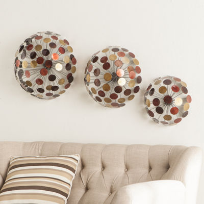 Home Decor Collections Metal Sphere Wall Sculptures