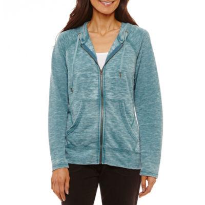 St. John's Bay Active Hooded Lightweight Softshell Jacket-Petites
