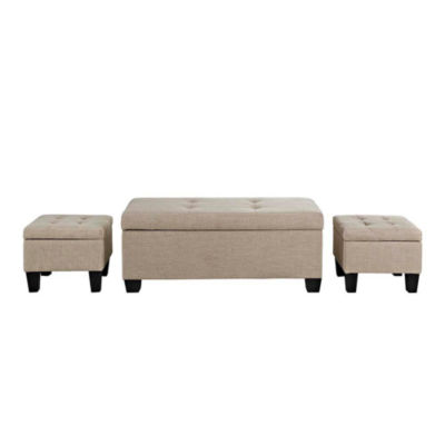 Picket House Furnishings Everett 3-pc. Storage Ottoman