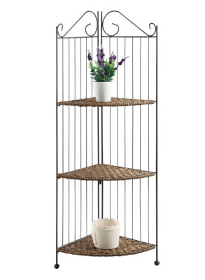 4D Concepts Farmington 3 Tier Folding Corner Shelf