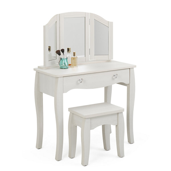 4D Concepts Lindsay Vanity With Stool