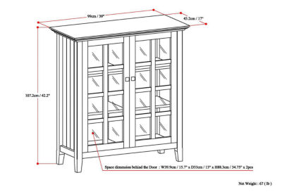 Acadian Medium Storage Cabinet