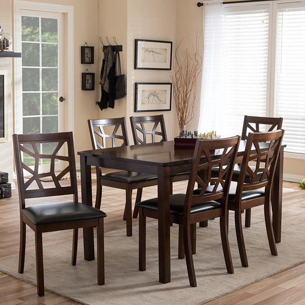 Baxton Studio Mozaika 7-pc. Dining Set