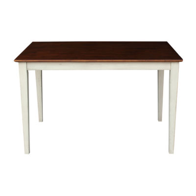 Solid Wood Top With Shaker Legs Rectangular Wood-Top Dining Table