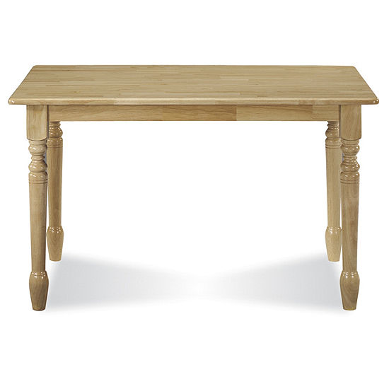 Solid Wood Top Rectangular Wood-Top Dining Table