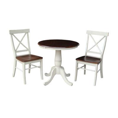 Pedestal 3-pc. Round Dining Set