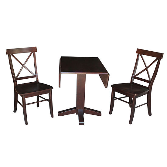 Drop Leaf 3-pc. Counter Height Square Dining Set